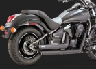 VANCE&HINES<BR>TWIN SLASH STAGGERED BLACK